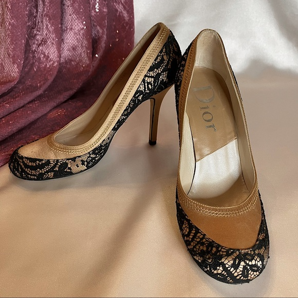Dior satin & lace